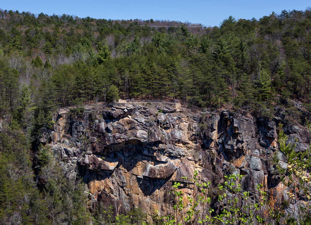 Hiking Tallulah Gorge: View from South Rim Trail