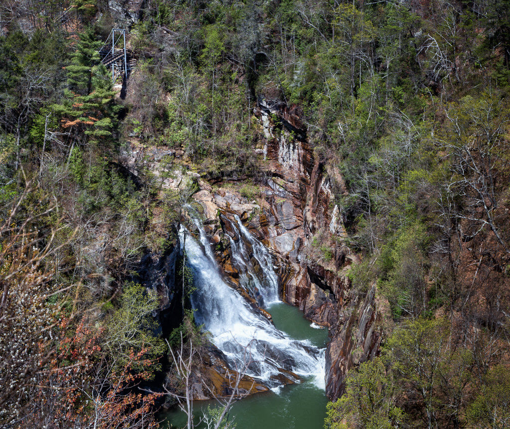 Hiking Tallulah Gorge: View of Gorge from South Rim Trail