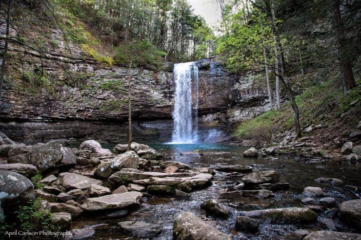 Caving at Cloudland Canyon: Cherokee Falls