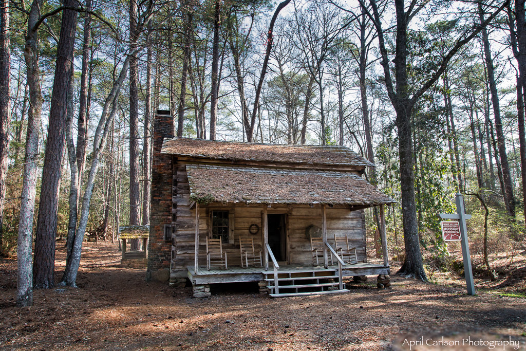 Visiting Callaway Gardens: Log Cabin In The Woods