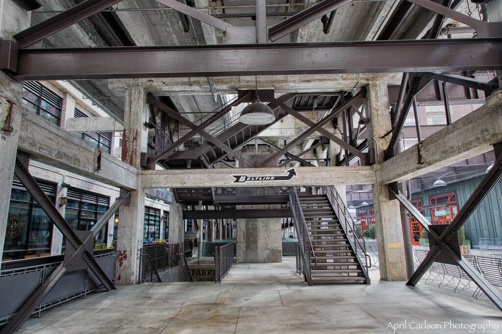 Visiting Ponce City Market: Stairs to Beltline