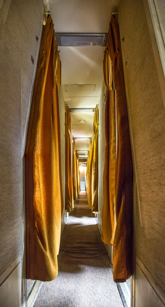 Touring Southeastern Railway Museum: Inside of Sleeper Car