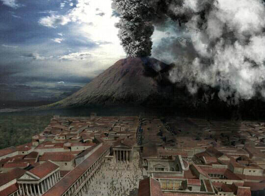 An image from the 2014 Pompeii feature film