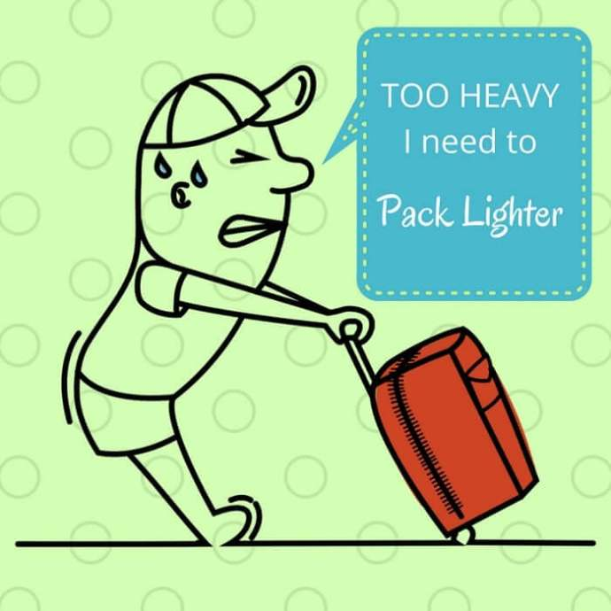 How to pack light for travel and lighten your travel packing