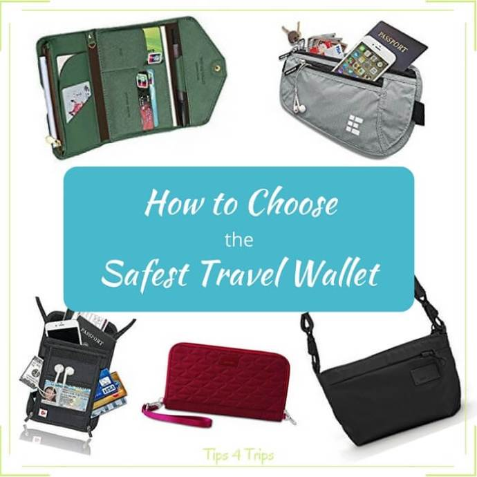 Options for finding the best and safest travel wallet for your holiday. Keep your holiday money safe and easy to access when on day trips on vacation.