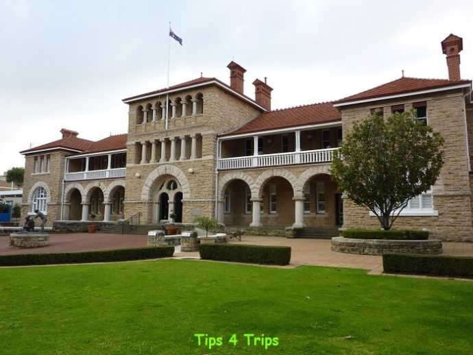 The heritage Perth Mint building