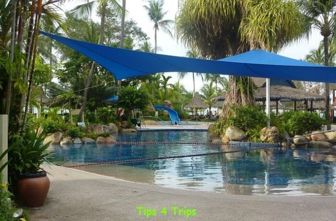 The family friendly facilities at the Goldens sands Hotel Penang, malaysia on Batu Ferringhi beach.