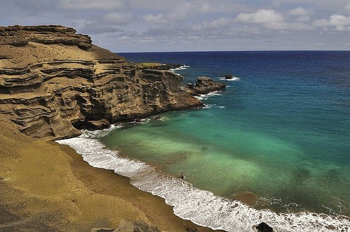 Papakolea Beach, Big Island, Hawaii