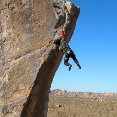 Rock Climbing In Joshua Tree National Park, California, USA