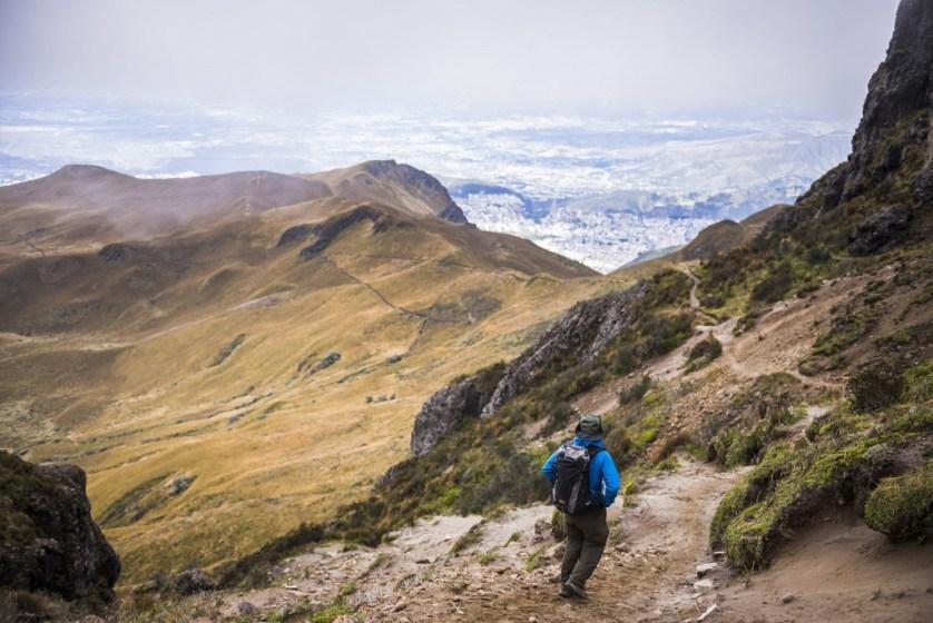 Rucu Pichincha Volcano trek, Quito, Pichincha Province, Ecuador, South America