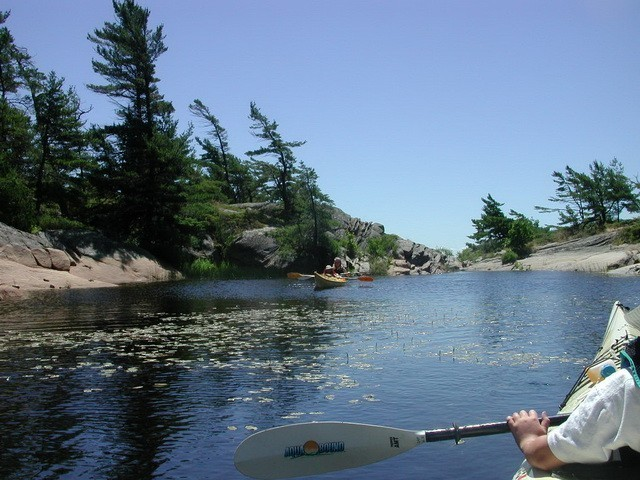 Kayaking In Georgian Bay, Ontario