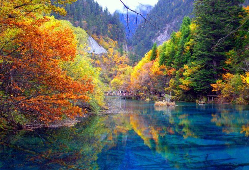 Unique Lakes In Jiuzhai Valley National Park