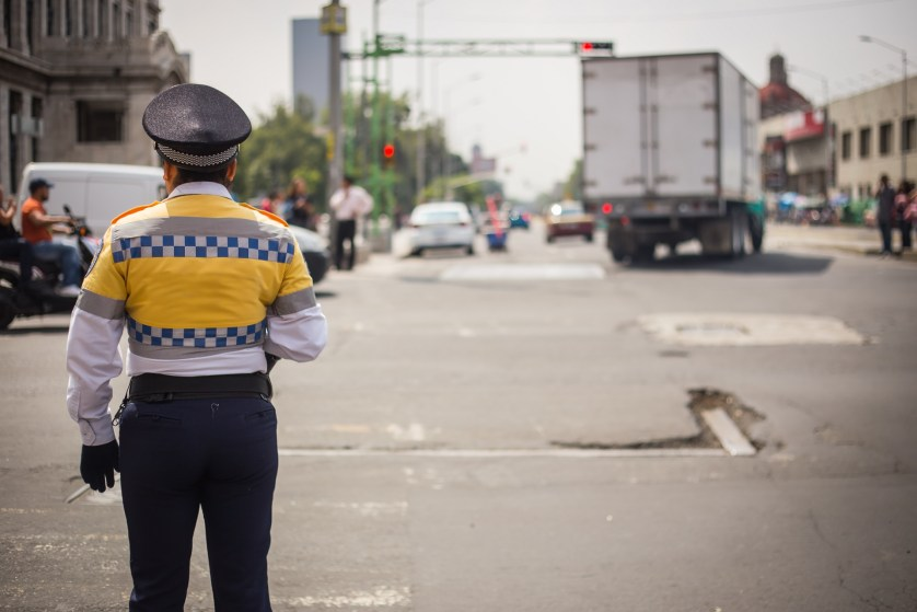 traffic cop in Mexico