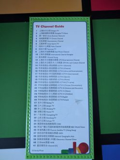 Just a few tv channels....