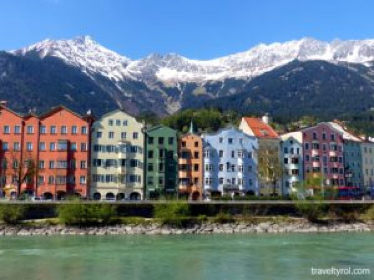 One of the top things to see in Innsbruck. The row of colourful houses on Mariahilf Street.