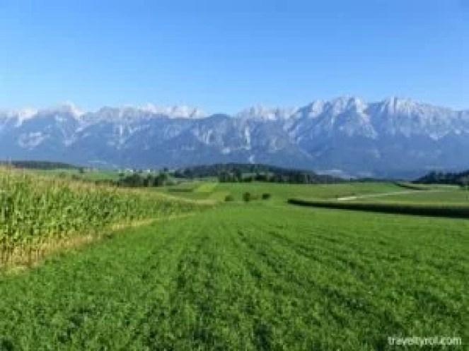 Farmland between Rinn and Tulfes in Tirol.