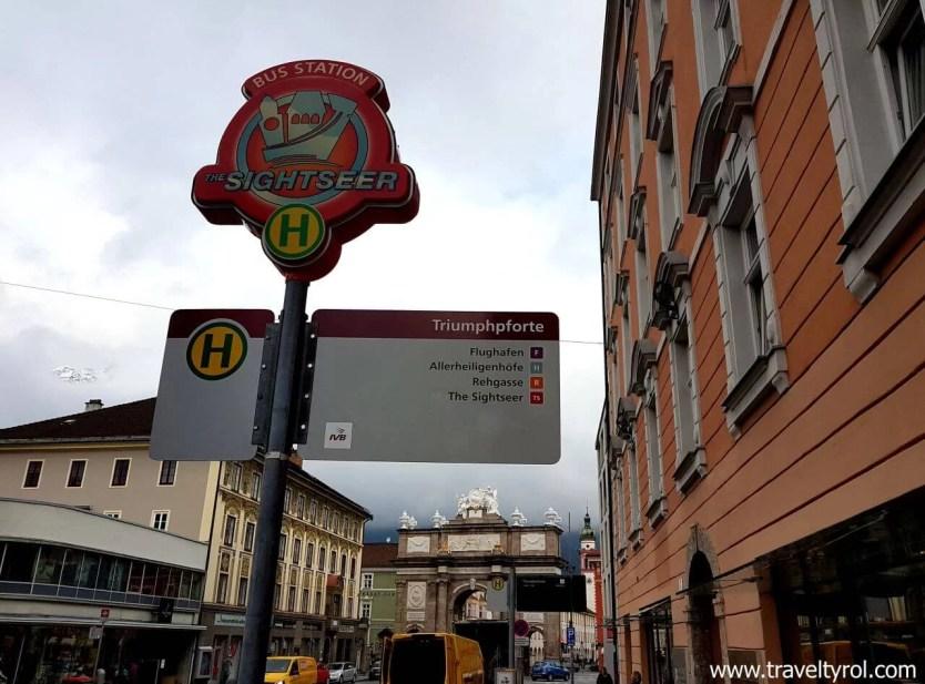 Sightseer hop on hop off bus Innsbruck
