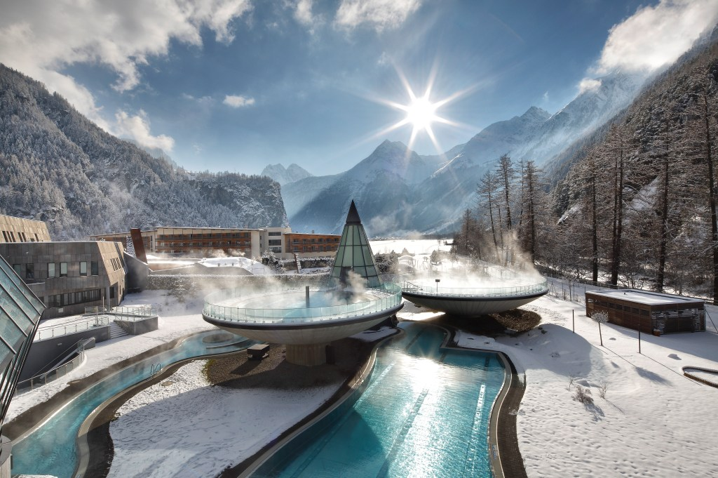 Relaxing in a thermal bath is one of the nicest things to do in Austria in winter.