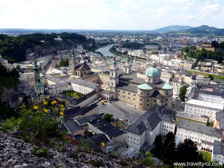 The view over Salzburg from the Hohensalzburg Fortress included in the Salzburg Card.