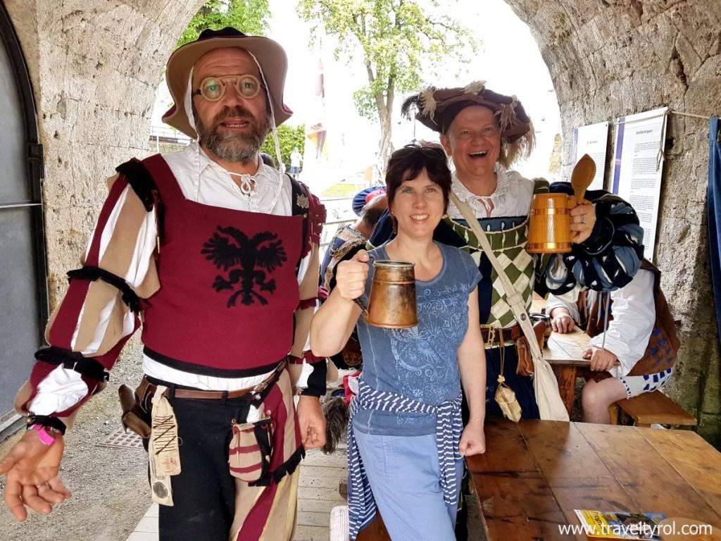 Ritterfest Kufstein beer drinking.