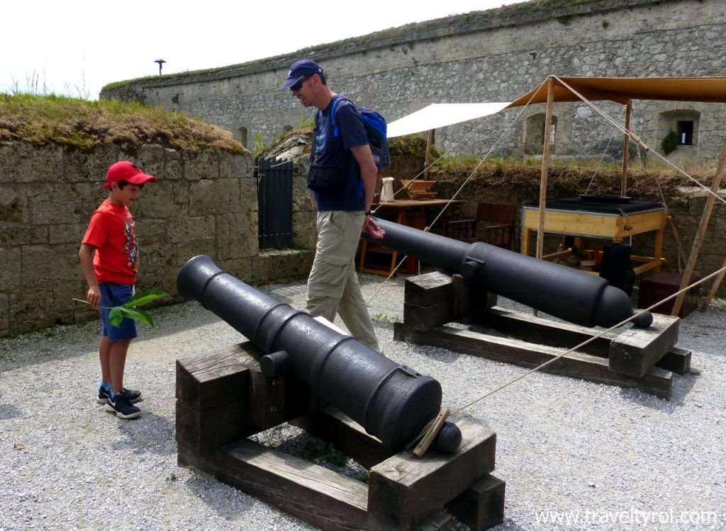 Cannons Kufstein Fortress