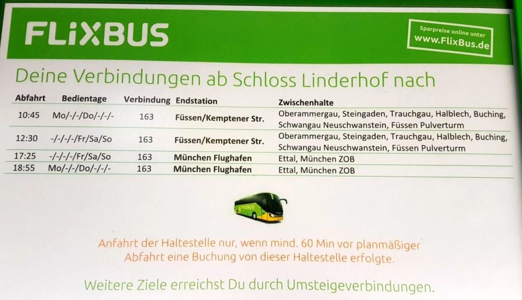 FlixBus to Linderhof