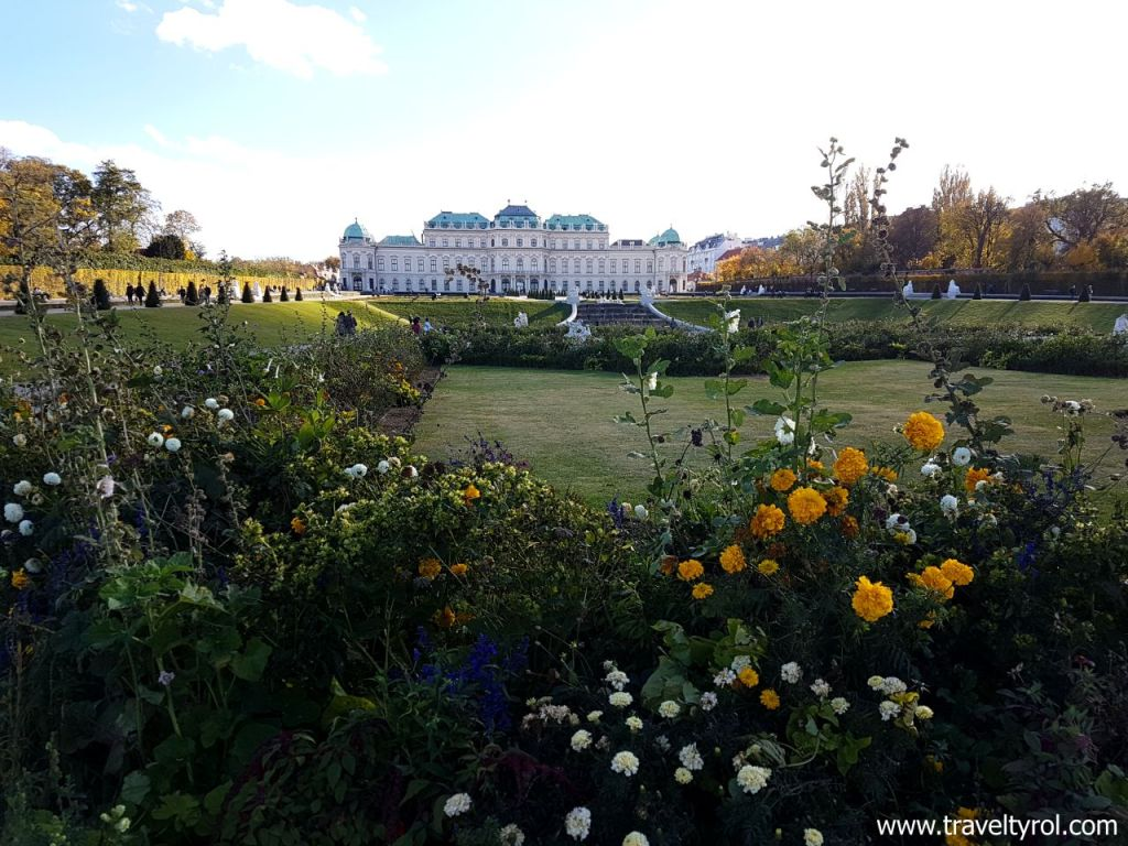 Belvedere Palace gardens is one of the most beautiful gardens of the Viennese Palaces. © Travel Tyrol