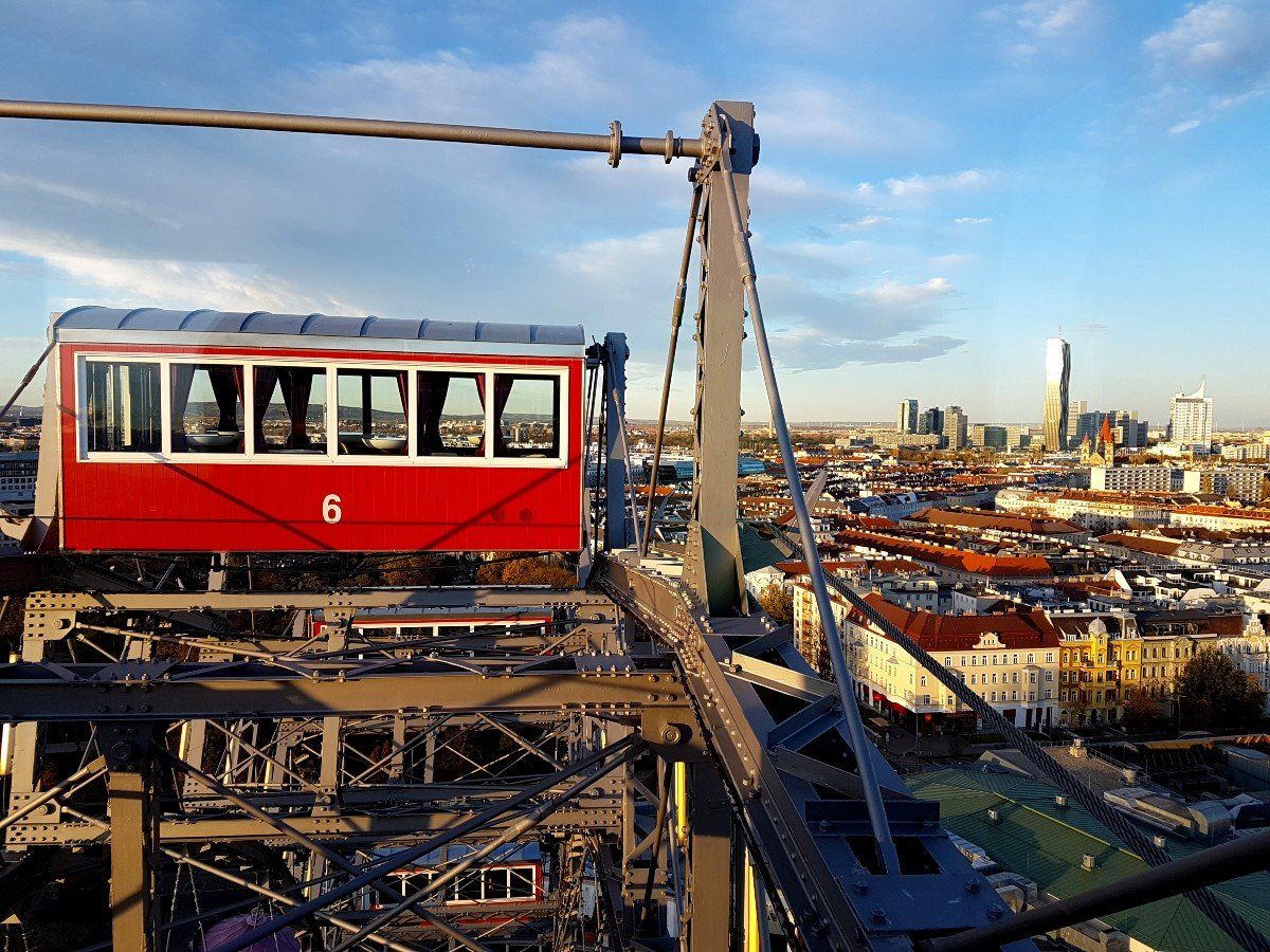 Giant Ferris Wheel Vienna.