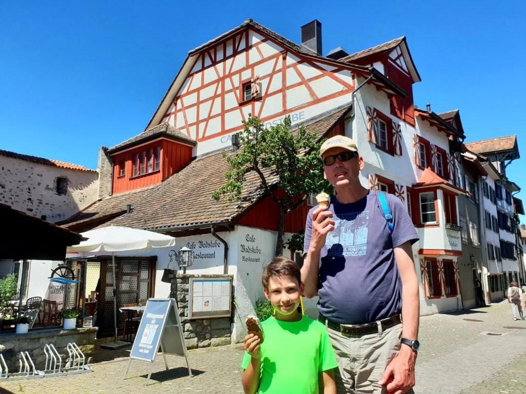 Choligass next to the Witches' Tower, Stein am Rhein.