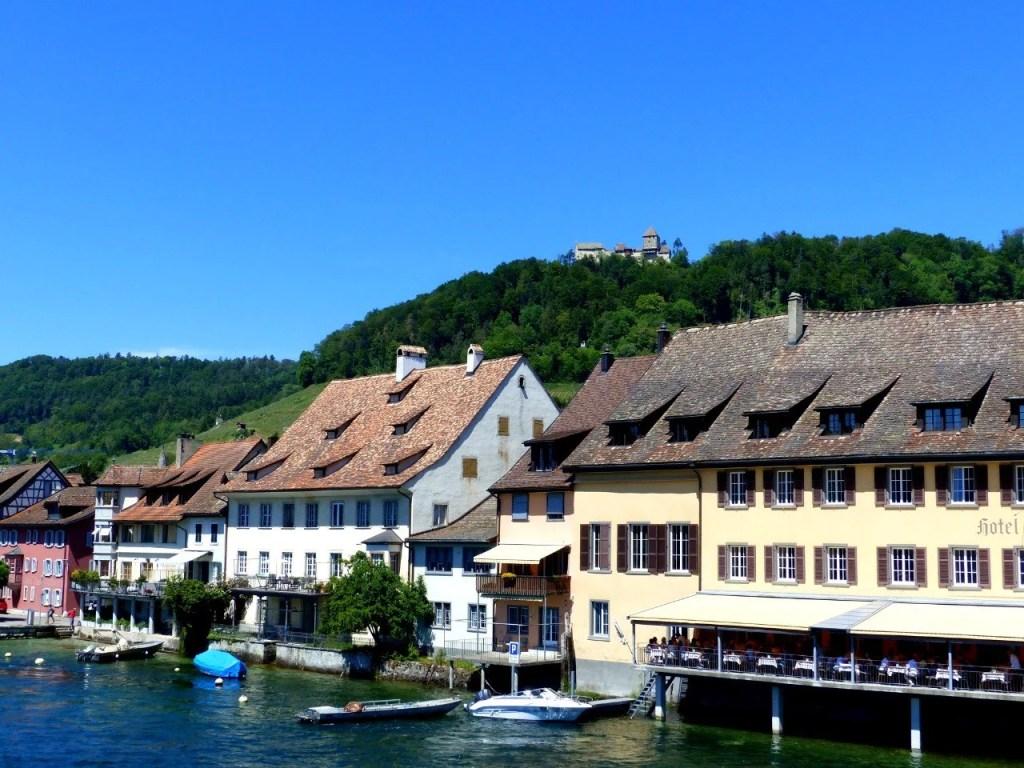 Hohenklingen Castle from the Rhine Bridge.