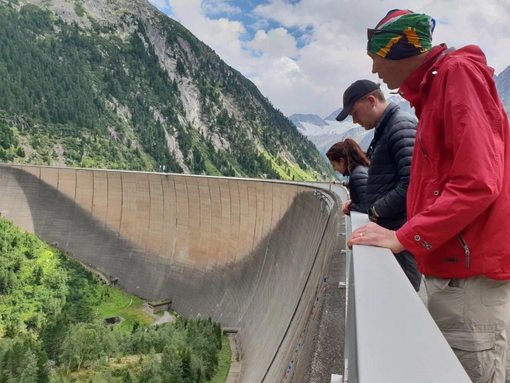 Schlegeisspeicher Dam wall.