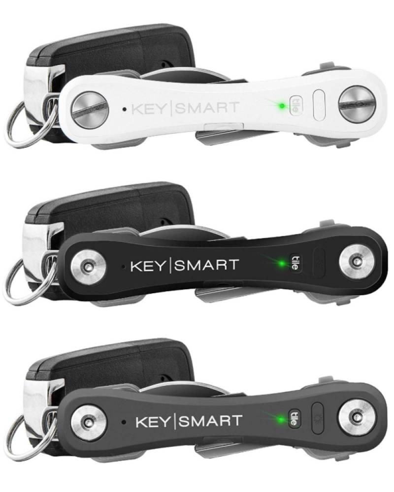 keysmart pro key holder with tile smart location tracking holds up to 10 keys