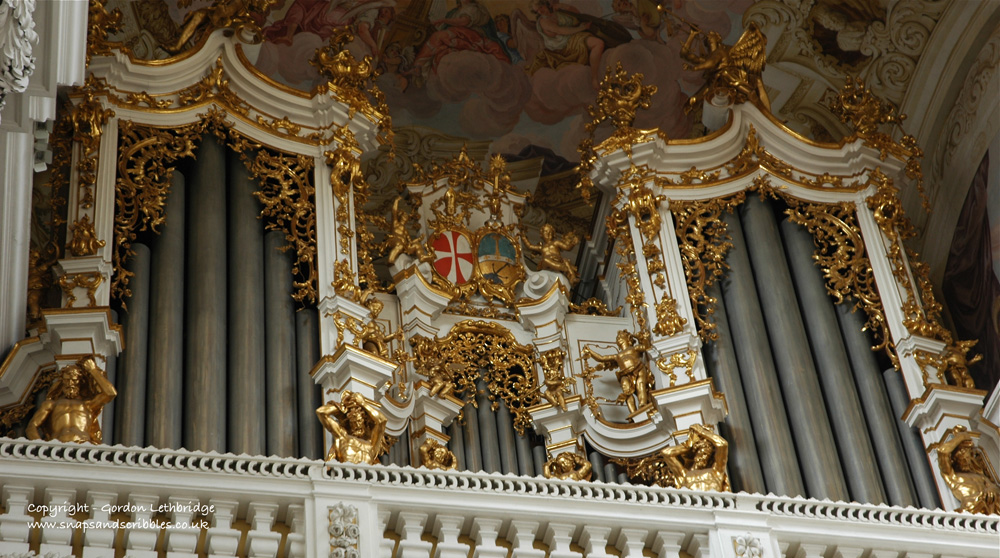 The organ in the abbey church at St Florian often played by the composer Anton Bruckner
