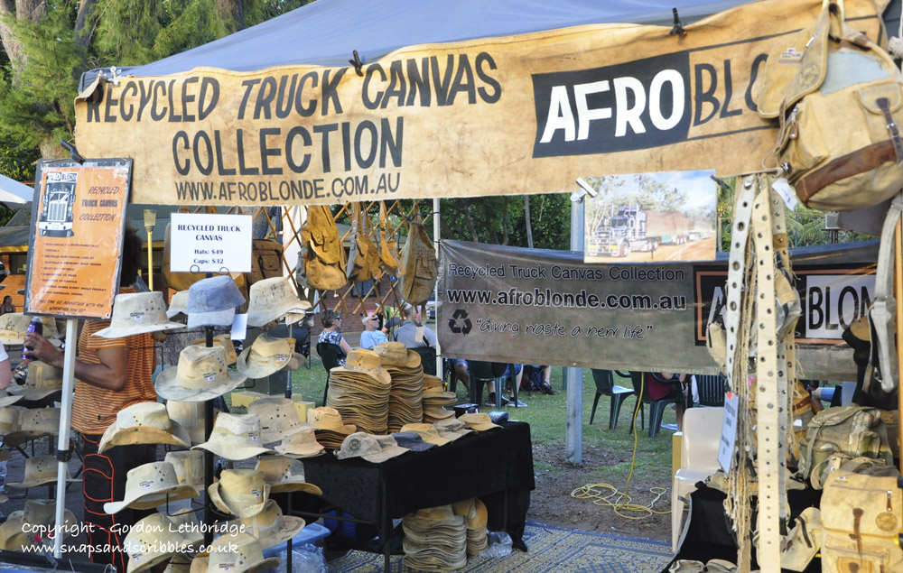 Goods made from truck tarpaulins are popular