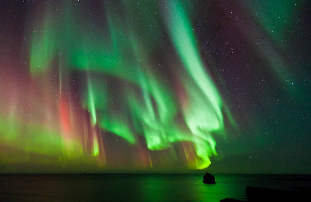 Northern Lights dancing over the Arctic Ocean © Sergey Sidorov - source: www.depositphotos.com