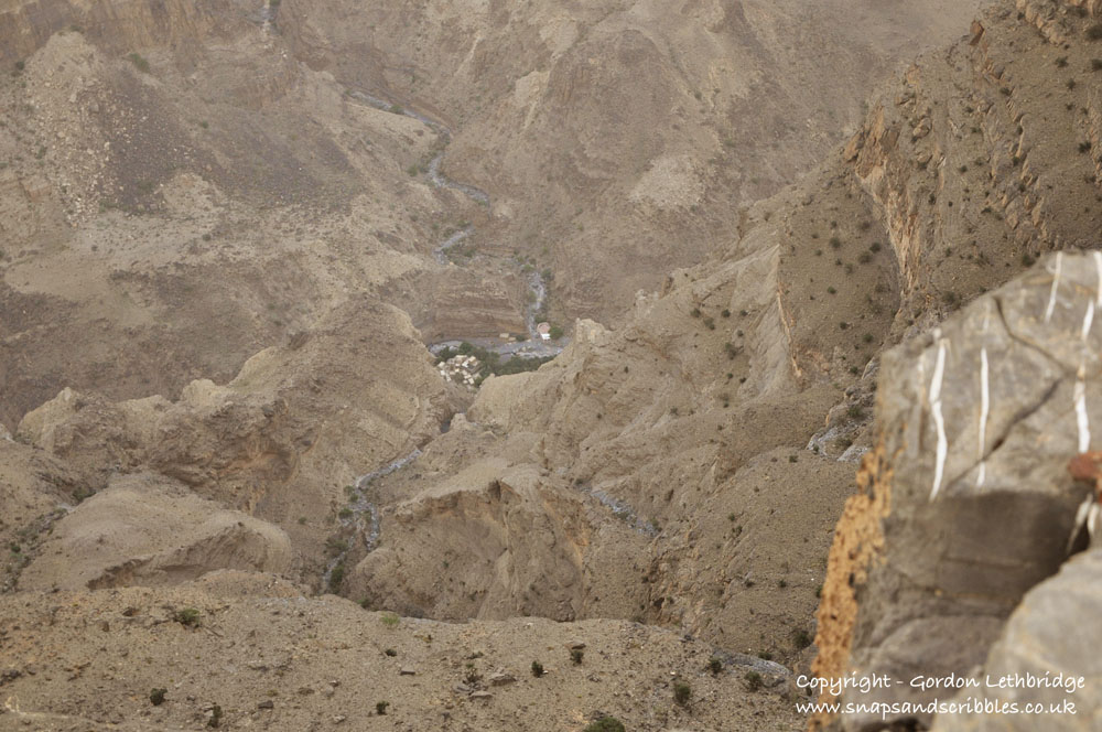 The Grand Canyon of Arabia - spot the village