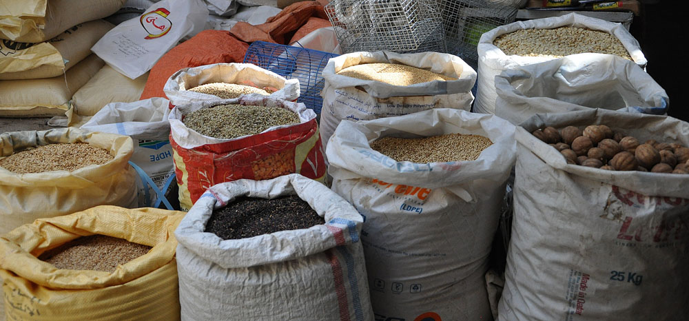 Pulses, nuts and spices in the Nizwa Spice Souq