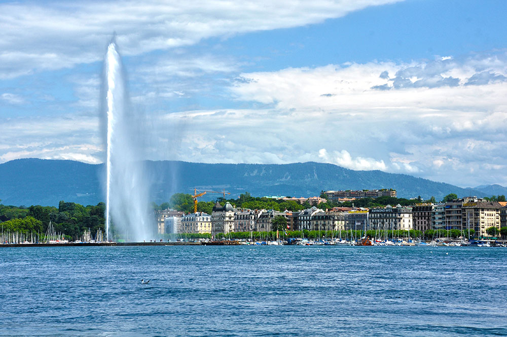 The Jet d'Eau in Geneva