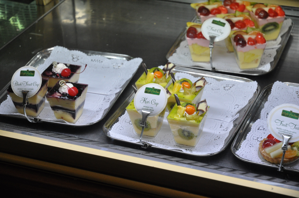 The cakes and pastries at Caffe Cordina