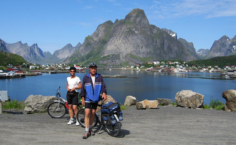 Lofoten Island scenery is best seen from two wheels