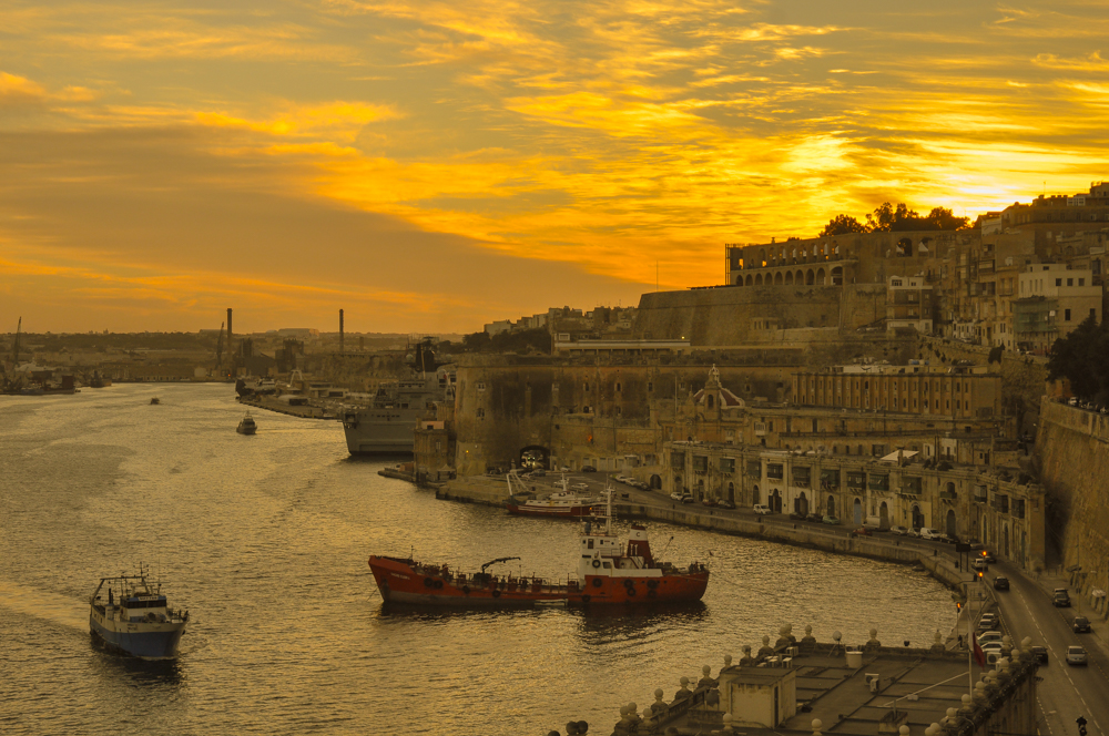 Sunset over the Grand Harbour - my entry to the Olympic Holidays Mediterranean Sunset Competition. What do you think?