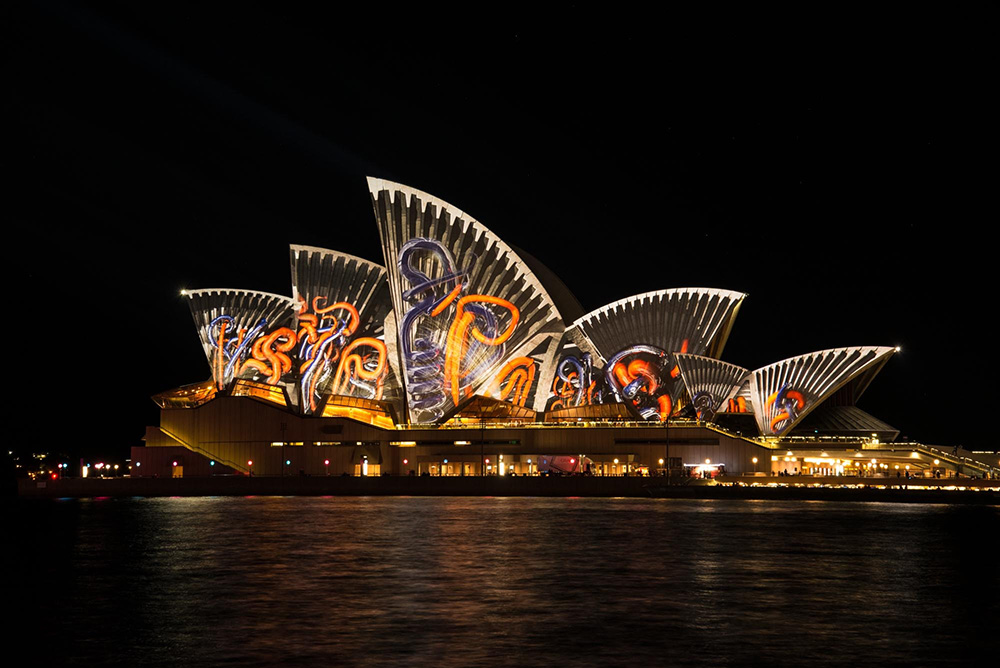 The Sydney Opera House seen in a different light