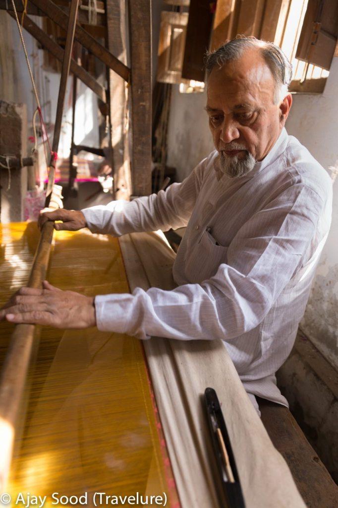 Maqbool Hasan - President's Award Recipient in silk weaving
