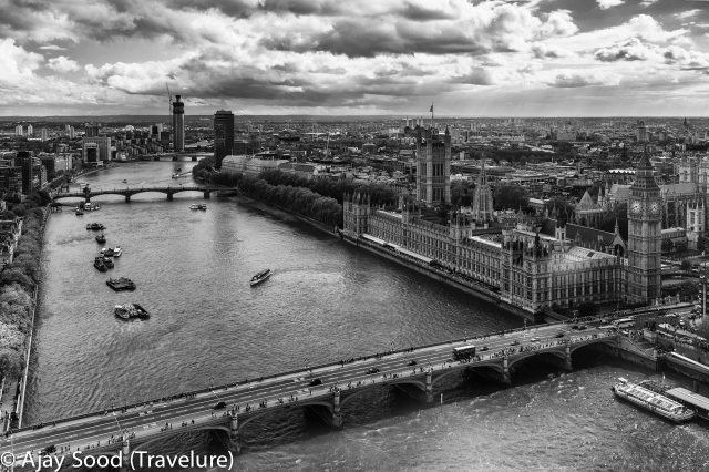 London Cityscape with Thames in the foreground