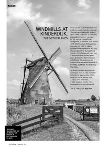 Windmills at Kinderdijk, The Netherlands