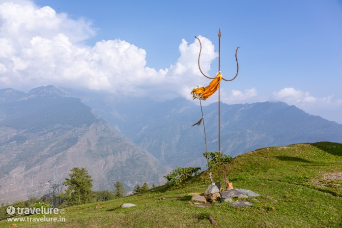 This trident is what you see first when you conclude the Bijli Mahadev Trek – Kullu Attraction