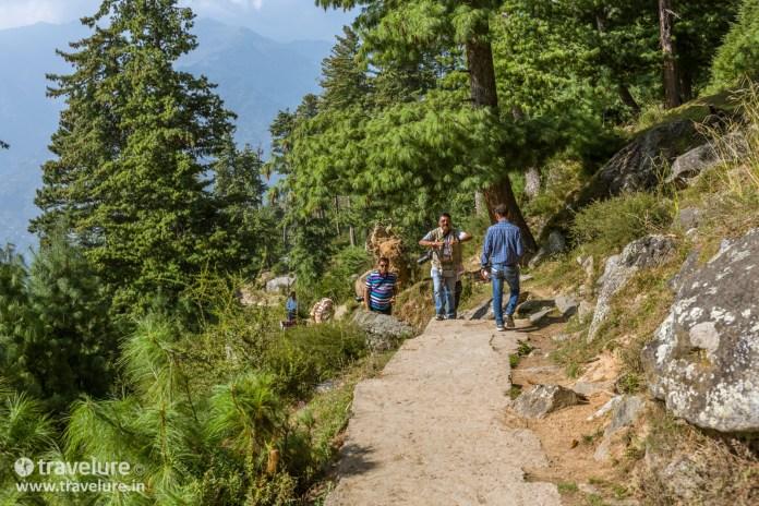 The climb was steep in the Bijli Mahadev Trek – Kullu Attraction