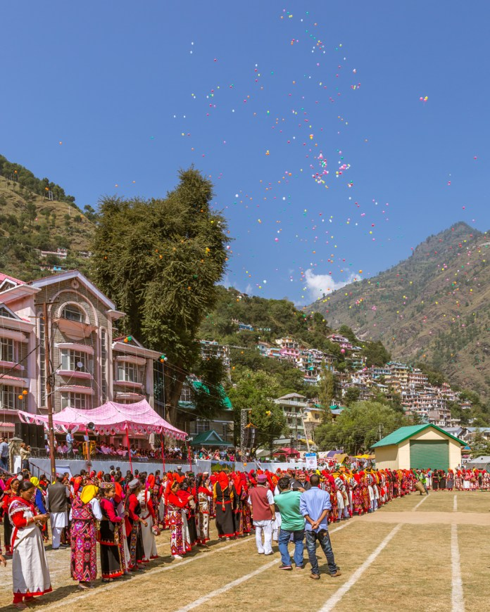Polka dots in the sky at Kullu Dussehra - Gods' Own Get-Together