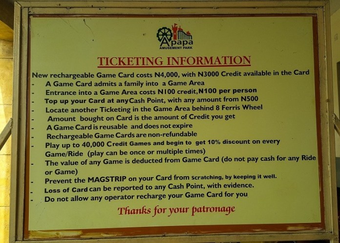 tips to visit apapa amusement park