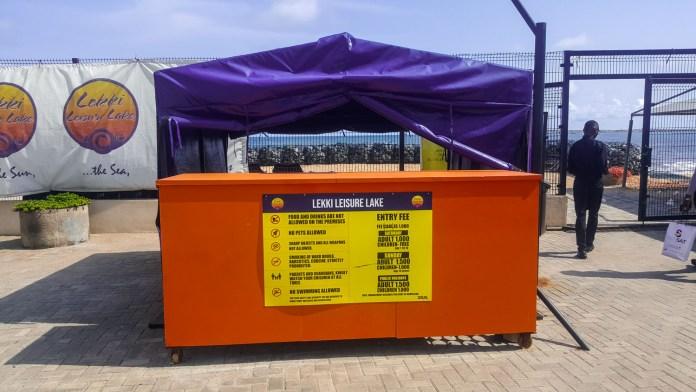 Lekki Leisure Lake gate fee